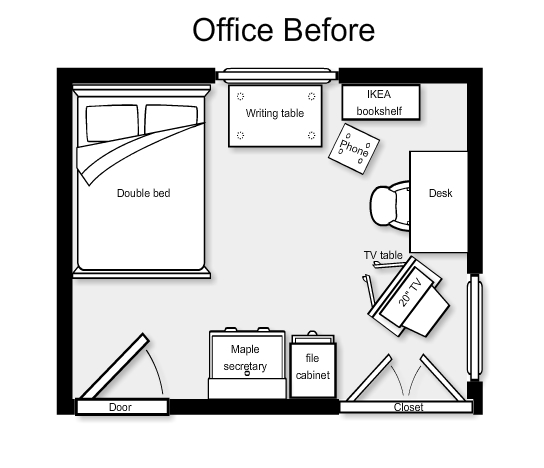 Home Office Makeover How To Make A Floor Plan